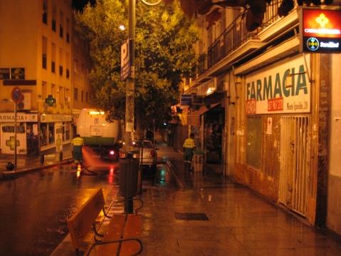 te recuerdo, la calle mojada