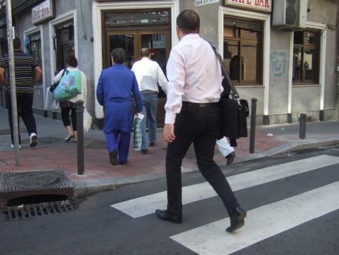 la calle a pie