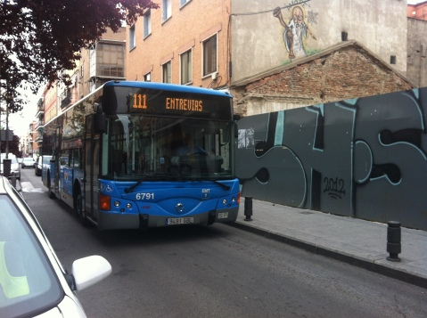 autobús desviado