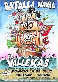 Cartel anunciador de la batalla naval de Vallekas 2013