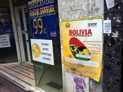 Bolivianos que votan lejos de la vieja Europa