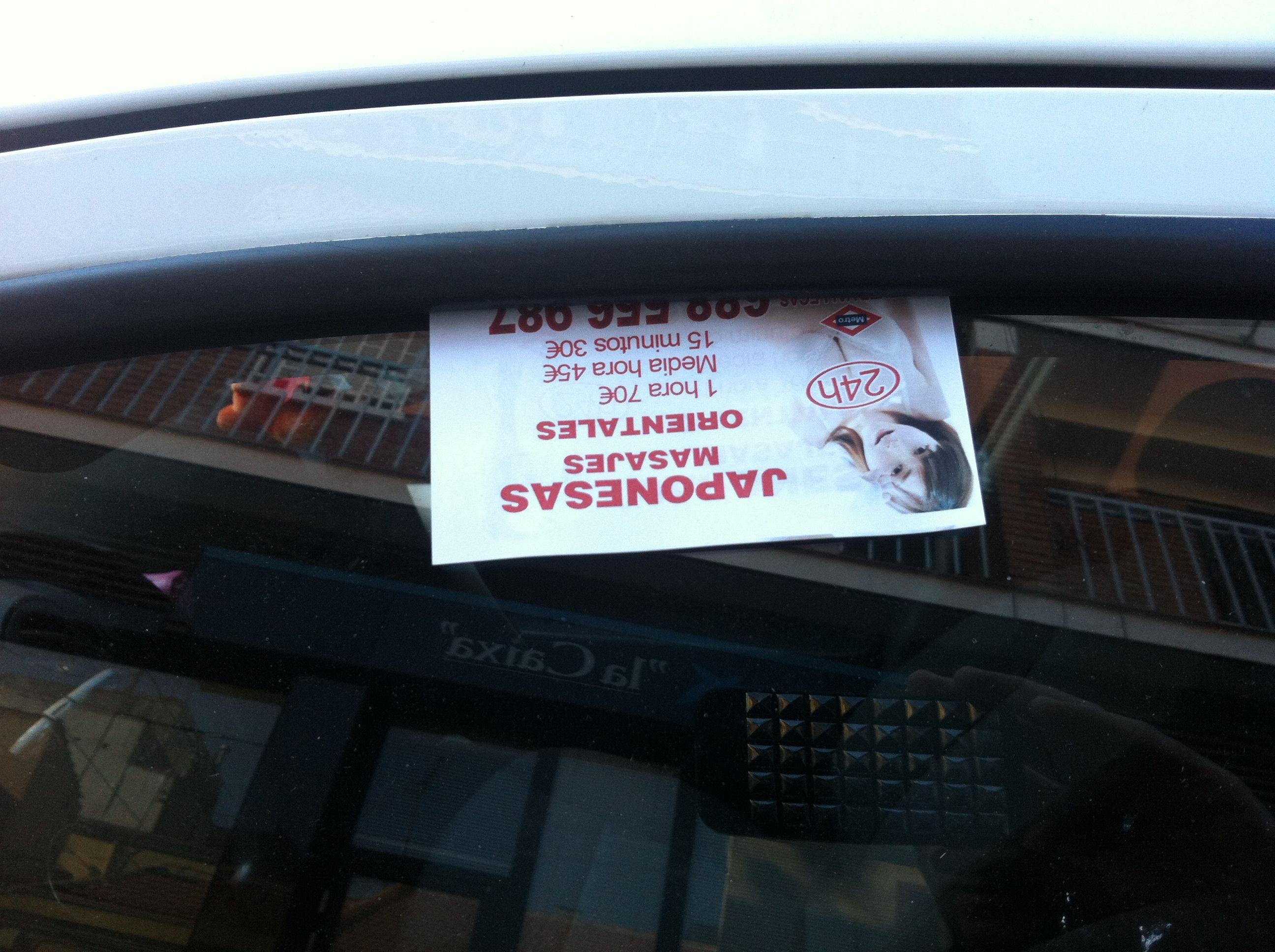 anucios de prostitutas los anuncios de prostitutas en los parabrisas serán ilegales