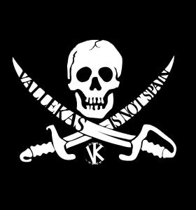 Logo pirata para la camiseta de moda