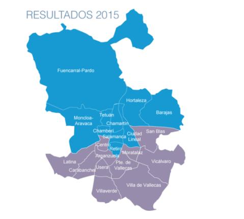 El otro color de  Madrid tras las elecciones de 2015